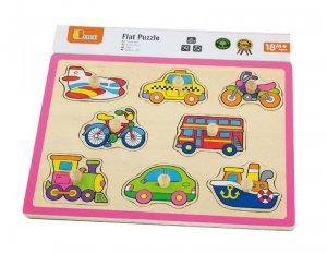 Drewniane puzzle - pojazdy Viga