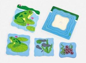 Drewniane puzzle - jak rośnie żabka Viga
