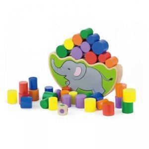 Drewniana gra 2w1 - balansujący słoń Viga