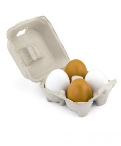 Drewniane jajka - 4 sztuki Viga