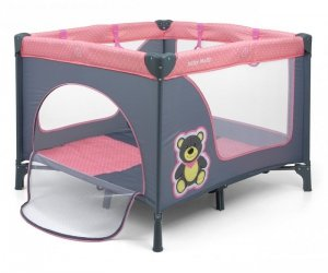 Łóżeczko kojec dla dziecka Fun Pink Bear Milly Mally
