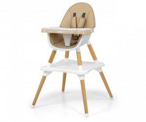 Krzesełko do karmienia 2w1 Malmo Beige Milly Mally