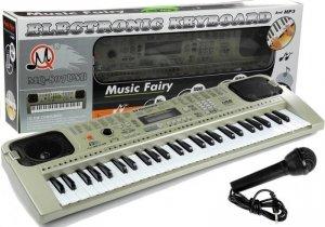 Keyboard Organy Pianinko + Mikrofon USB