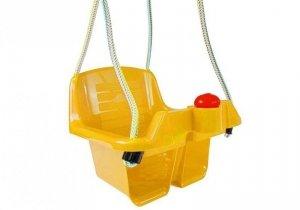 Huśtawka kubełkowa dla dzieci żółta