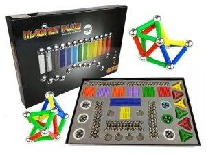 Mega zestaw klocki magnetyczne Magnastix 560el + tablica