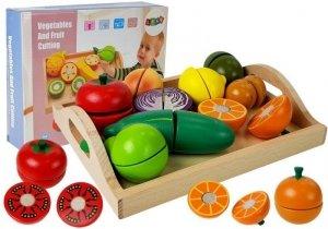 Drewniany zestaw do krojenia owoców i warzyw