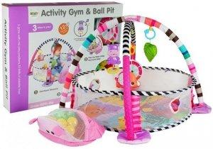 Mata Edukacyjna Basen z Piłkami Hipopotam dla niemowląt