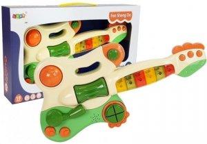 Interaktywna Gitara Pianinko Dla Dzieci Dźwięk Światło Zielona