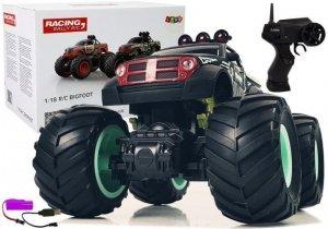 Auto Terenowe Pick Up Ogromne Koła Bigfoot Zdalnie Sterowany 2.4G 1:18 Czarno- Zielony