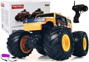 Auto Terenowe Duże Koła Bigfoot Zdalnie Sterowany 2.4G 1:18 Żółty