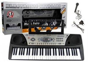 Keyboard Organy + Mikrofon zasilacz MP3