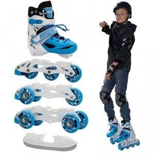 Łyżworolki - 3 Skate - Łyżwy - Wrotki  4W1 Enero 26-29 Niebieskie