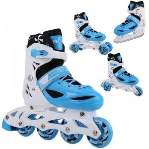 Łyżworolki - 3 Skate - Łyżwy - Wrotki  4W1 Enero 30-33 Niebieskie