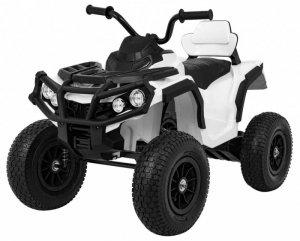 Quad na akumulator dla dzieci ATV Pompowane Koła Biały