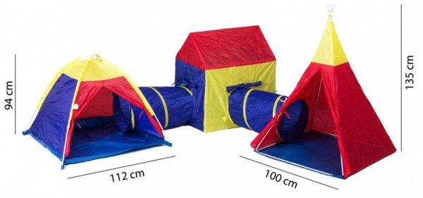 Zestaw namiotów dla dzieci 5w1 domek + tunele Iplay