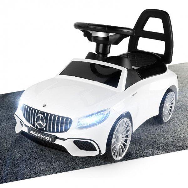 Jeździk Mercedes AMG dźwięki LED - biały