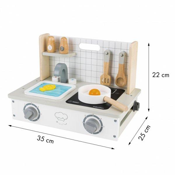 Drewniana kuchenka z akcesoriami mini kuchnia Ecotoys