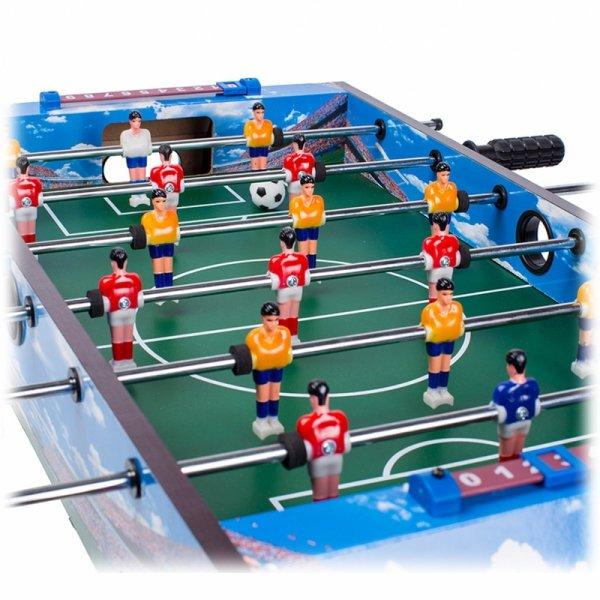Piłkarzyki drewniany stół do gry 70x36 cm Ecotoys