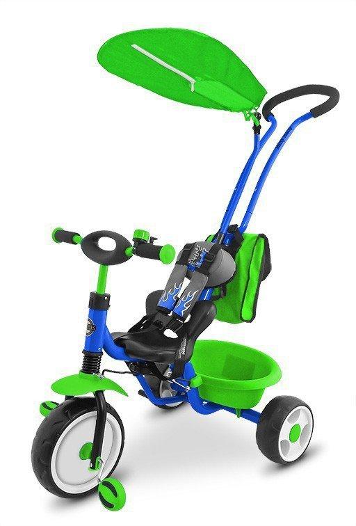 Rowerek Boby Deluxe 2014 Blue - Green P Milly Mally