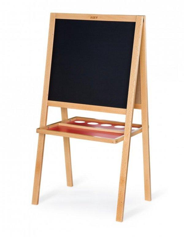 Drewniana dwustronna tablica do rysowania średnia Viga