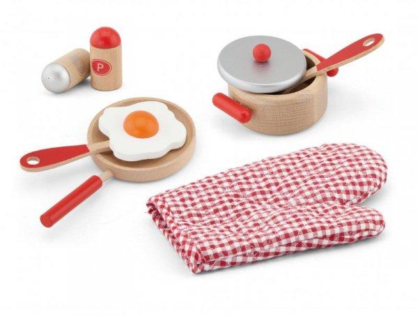 Drewniany zestaw śniadaniowy - Red Viga