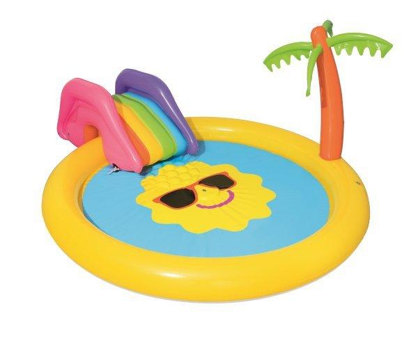 Dmuchany basen brodzik ze zjeżdżalnią słoneczna kraina 237x201cm Bestway 53071