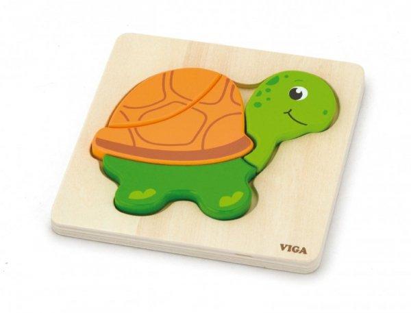 Pierwsze puzzle maluszka - Żółwik Viga