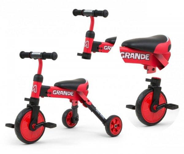 Rowerek na pedały, biegowy  2w1 Grande Red  Milly Mally