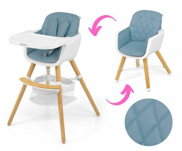 Krzesełko do karmienia 2w1 Espoo Blue Milly Mally
