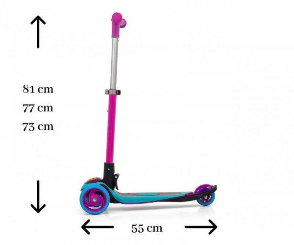 Hulajnoga Micmax Pink Kółka LED Milly Mally