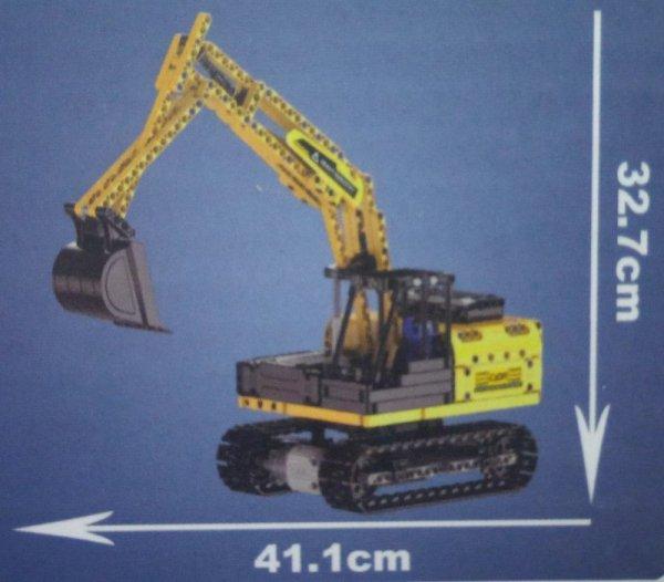 Koparka zdalnie sterowana RC klocki CADA C51057W