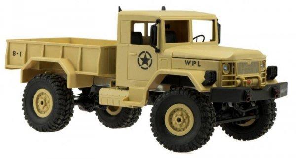 Samochód zdalnie sterowany RC wojskowy pustynny