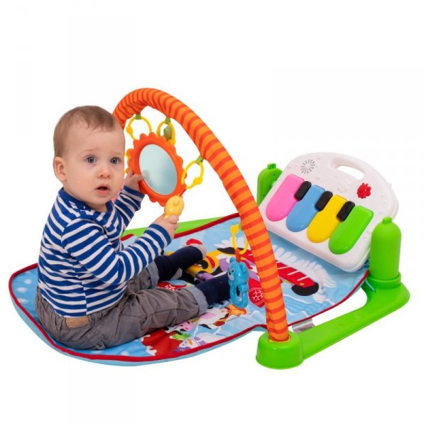 Mata Edukacyjna dla dzieci  3w1 zwierzaki + pianinko