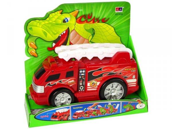 Auto Straż Transformacja Smok 2w1 Wóz Strażacki