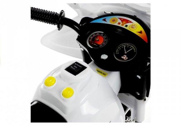 Motor na Akumulator Trójkołowy Biały BJX-88