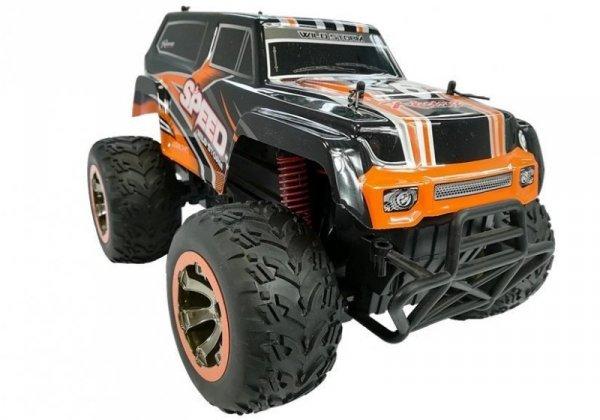 Terenowy Jeep Auto zdalnie sterowane 1:18 R/C Pomarańczowe
