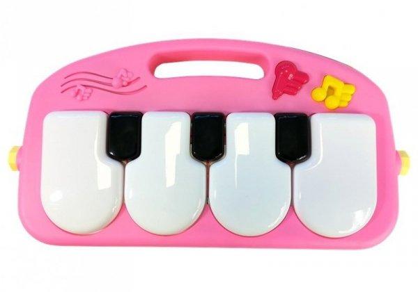 Mata Interaktywna z pianinkiem różowa