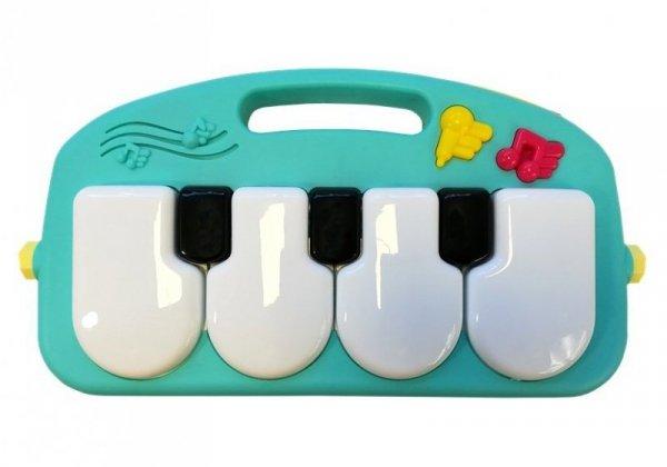 Mata Interaktywna z pianinkiem niebieska
