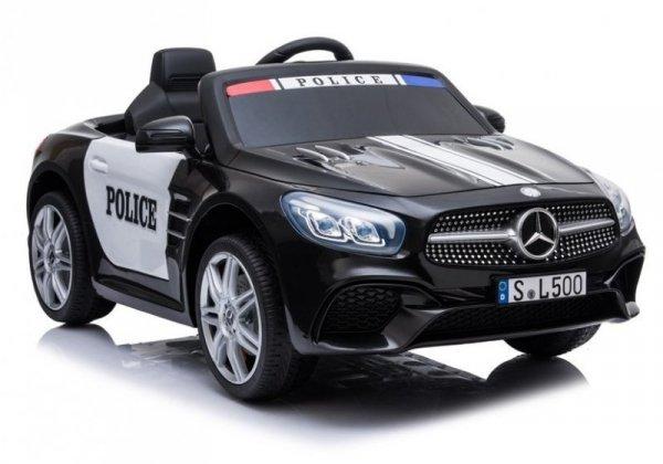 Auto na akumulator Mercedes SL500 Policja Czarny