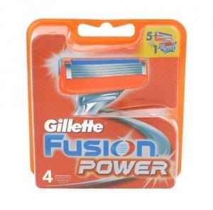 GILLETTE Fusion Power wkład do maszynki dla mężczyzn 4 szt.