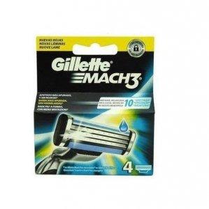 GILLETTE Mach3 nożyki wkłady do maszynki dla mężczyzn 4 szt.