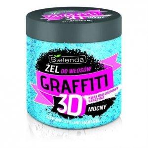 BIELENDA Graffiti 3D mocny żel do stylizacji włosów z kwasem hialuronowym i keratyną 250g