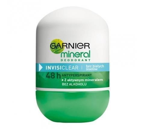 GARNIER Mineral Invisi Clear dezodorant roll-on dla kobiet 50ml