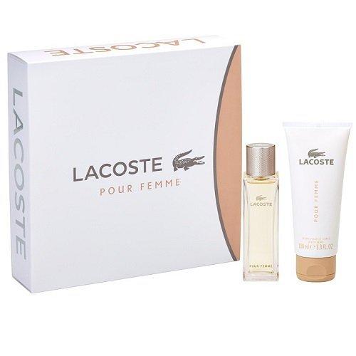 ZESTAW LACOSTE Pour Femme woda perfumowana dla kobiet 50ml + balsam 100ml