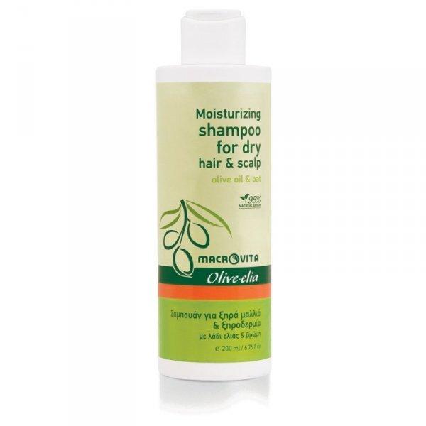 MACROVITA OLIVE-ELIA szampon nawilżający do włosów suchych i suchej skóry głowy z bio-oliwą i owsem 200ml