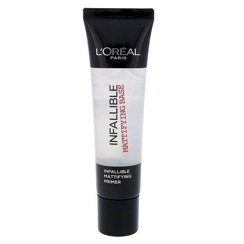L'ORÉAL PARIS Infaillible Mattifying Base - baza pod makijaż dla kobiet 35ml (Transparent)