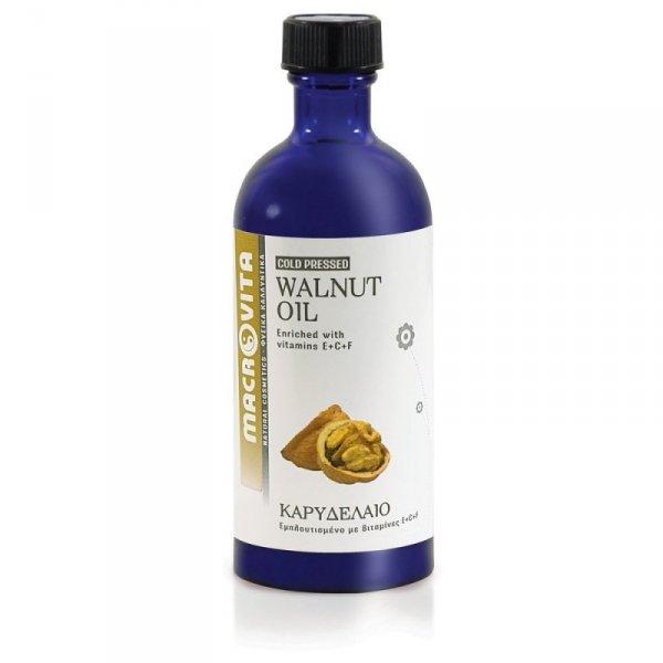 MACROVITA OLEJ Z ORZECHÓW WŁOSKICH w naturalnych olejach tłoczony na zimno z witaminą E 100ml