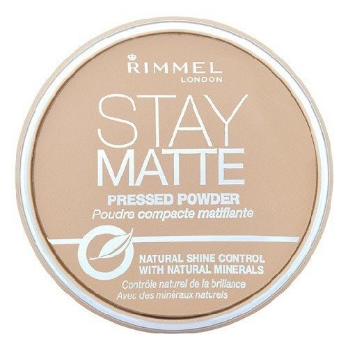RIMMEL LONDON Stay Matte Long Lasting Pressed Powder puder prasowany dla kobiet 14g (003 Peach Glow)