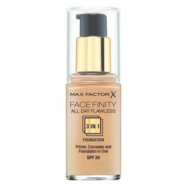 MAX FACTOR Face Finity All Day Flawless 3in1 Foundation SPF20 podkład pod makijaż 30ml (35 Pearl Beige)