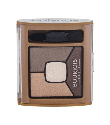 BOURJOIS PARIS Smoky Stories Quad Eyeshadow Palette cienie do powiek dla kobiet 3,2g (06 Upside Brown)